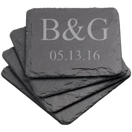 Personalized Square Slate Coasters](Personalized Coasters)