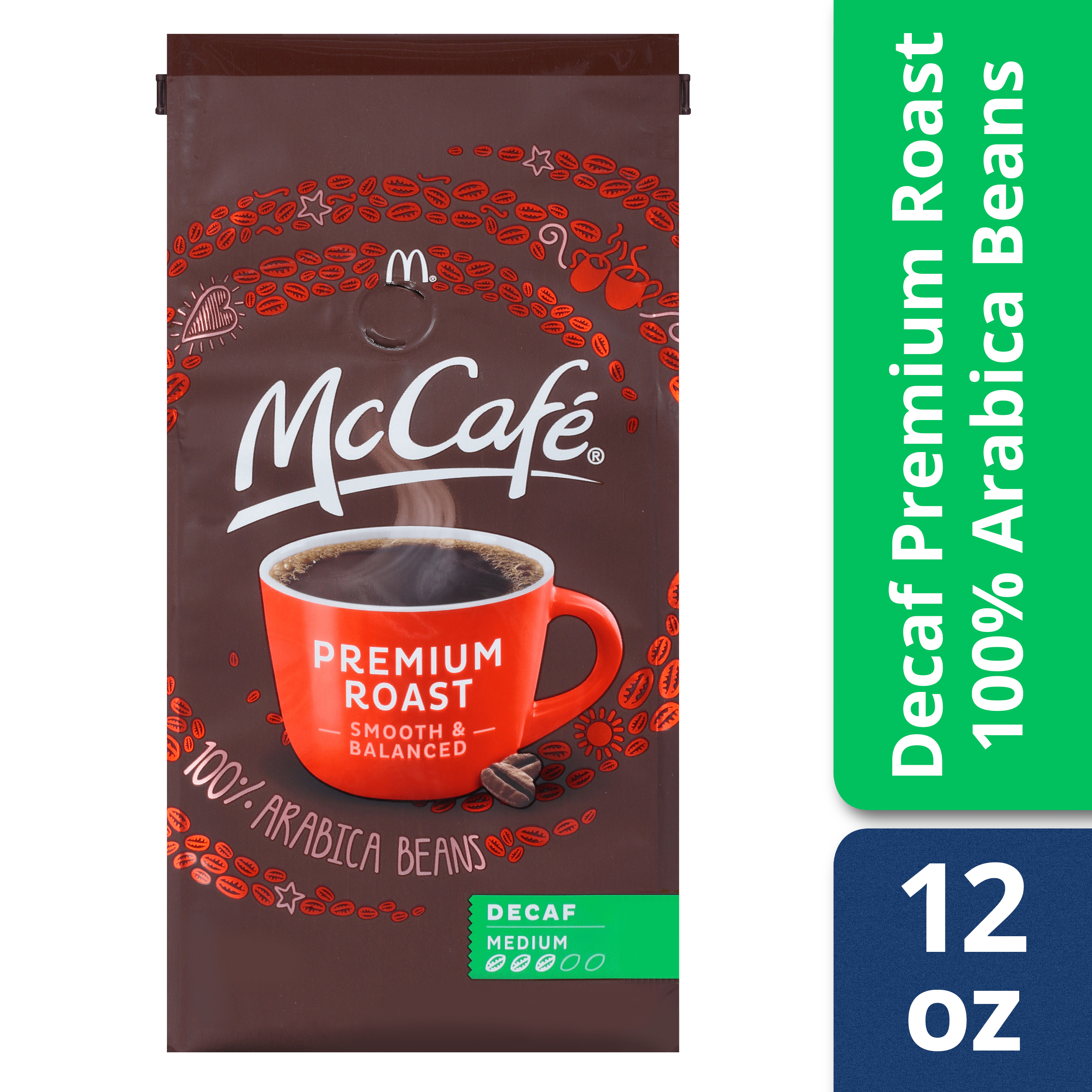 McCafé Premium Roast Decaf Ground Coffee Medium Roast 12 oz Bag