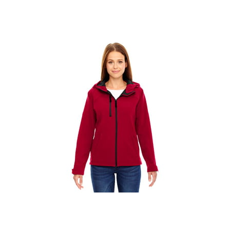 Ash City - North End Ladies' Prospect Two-Layer Fleece Bonded Soft Shell Hooded Jacket The North Face Hooded Vest
