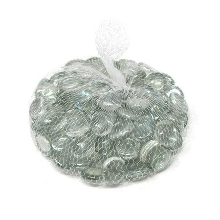 - Glass Marble Gems Vase Filler 1.1 LB Bag, Clear