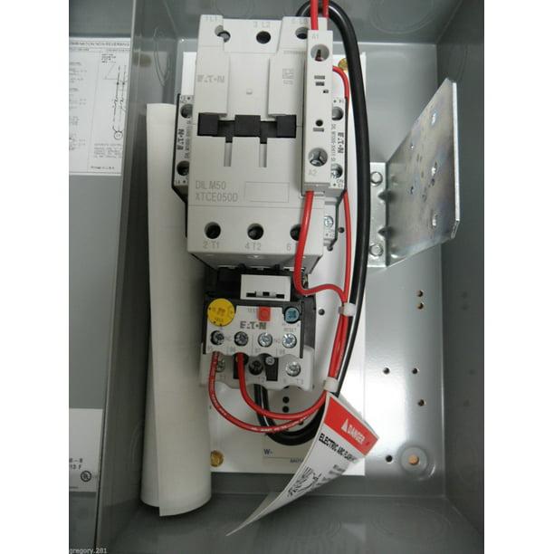 Eaton ECX09K1BAA-QA27S29 Non-Combination IEC FVNR Starter 240V/60Hz  220V/50Hz - Walmart.com - Walmart.comWalmart