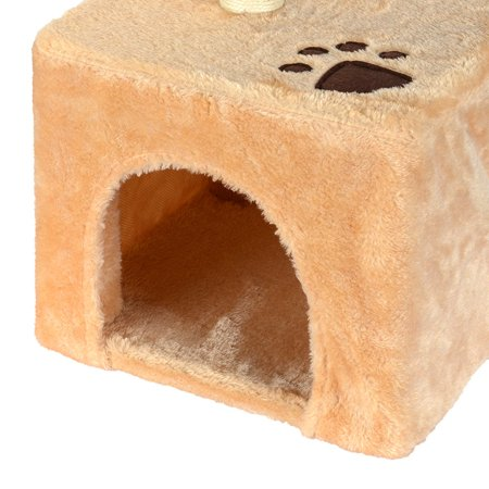 LIVINGbasics Cat Tree Condo Kitty Play House With Scratching Posts Tower Furniture, Beige - image 7 of 7