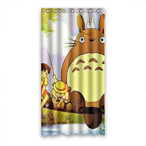 DEYOU My Neighbor Totoro Princess Mononoke Shower Curtain Polyester Fabric Bathroom Shower Curtain Size 36x72 inches