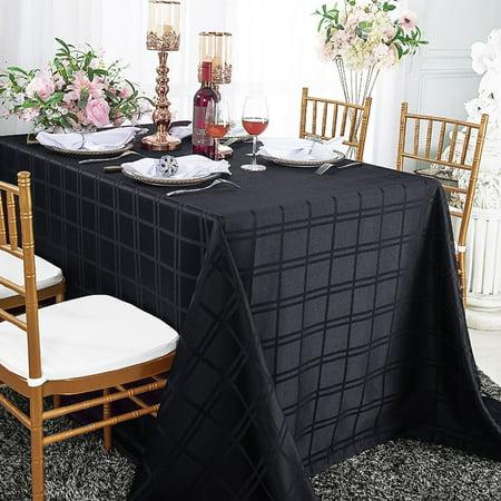 Linen Linen Tablecloth Wedding Linen Hemstitched Tablecloth Jacquard 140 cm x 250 cm