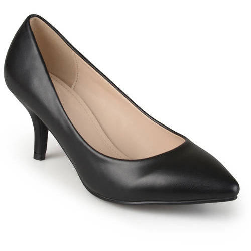 Brinley Co. Womens Classic Matte Pointed Toe Pumps