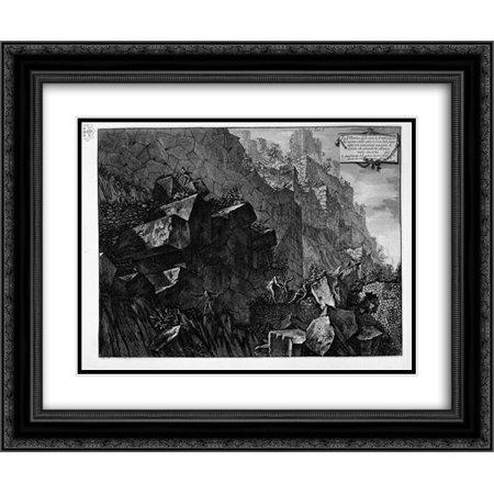 Giovanni Battista Piranesi 2x Matted 24x20 Black Ornate Framed Art Print