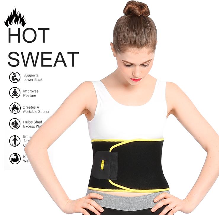 Yosoo Waist Trimmer - Tummy Trainer Wrap - Stomach Slimmer, Fat Burner Exercise Sweat Sauna Band - Reduce Water Weight Loss - Slimming Neoprene Shaper Corset