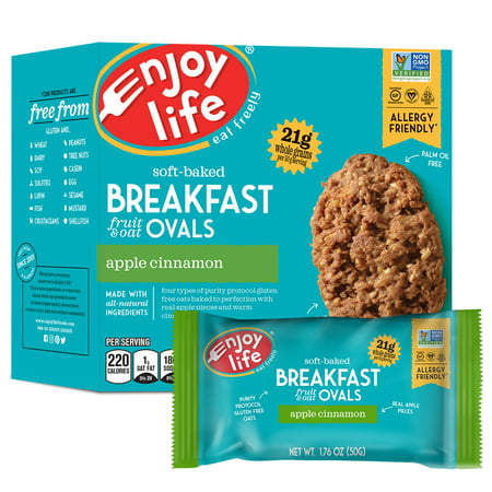Enjoy Life Foods Gluten Free, Allergy Friendly Apple Cinnamon Breakfast Ovals, 8.8 oz