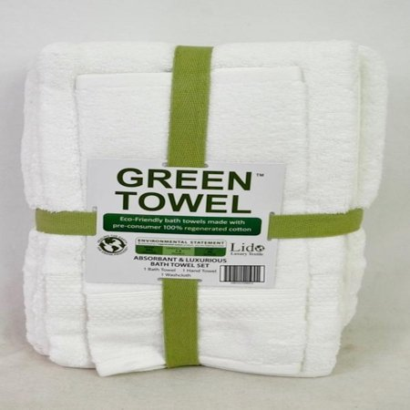 Enova Eco-green Absorbent and Luxury Bath towel set in White - image 1 de 1