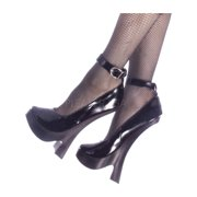 Womens Fetish Pumps 8 Inch Heels Sexy Mary Jane Shoes Black Leather Pumps