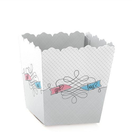Gender Reveal - Party Mini Favor Boxes - Baby Shower Treat Candy Boxes - Set of 12