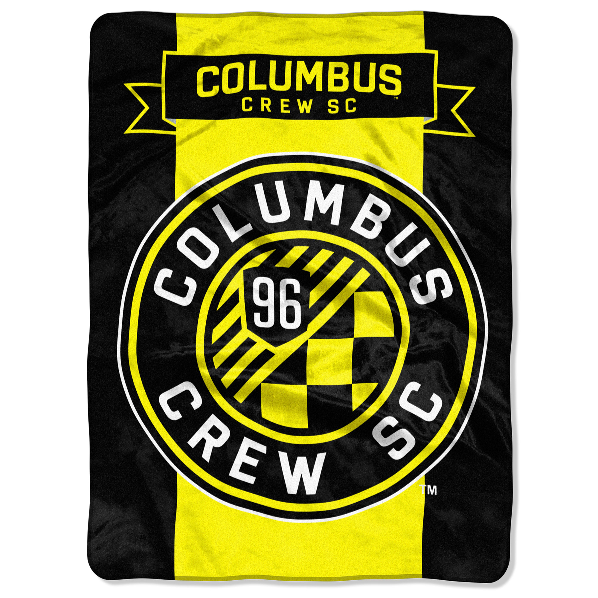 """Columbus Crew SC The Northwest Company 60"""" x 80"""" Raschel Throw Blanket - Yellow - No Size"""