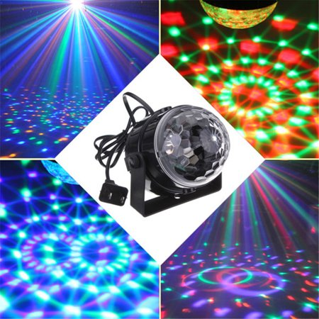 DJ Light, KINGSO Disco Light Sound Activated Party Lights Disco Ball Strobe Club lights Effect Magic Mini Led Stage Lights For Home KTV Xmas Wedding Show Pub - RGB 3W 7Color](Disco Ball Party)