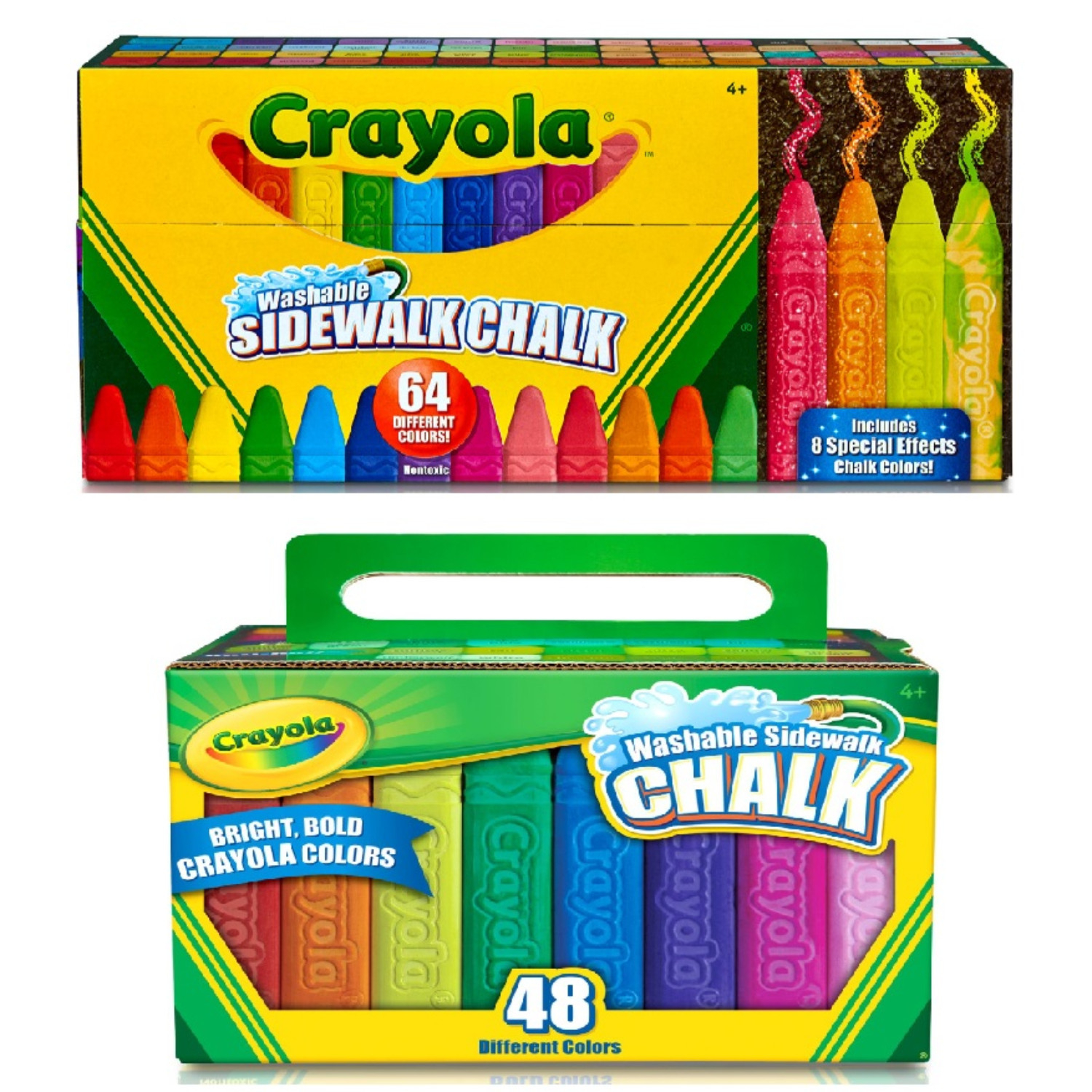 48 assorted bright colors 48 sticks set washable sidewalk