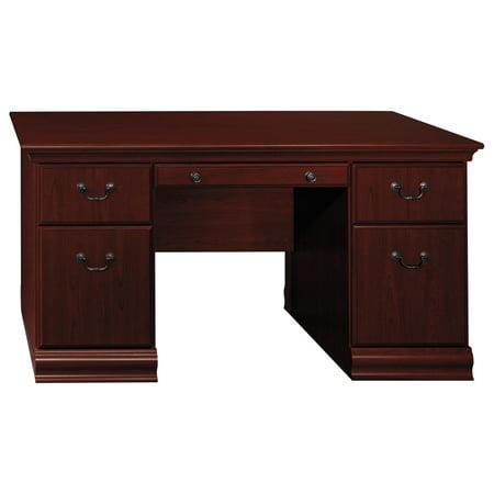 Bush Furniture Birmingham 60W Executive Desk In Harvest Cherry