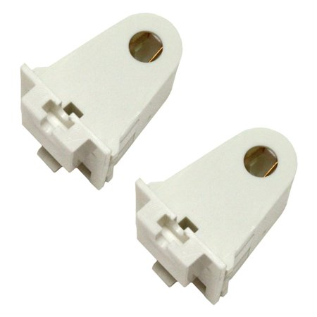 Single Pin Socket - Sylvania 48174 - Slimline Single Pin Shallow Base Slide-On Stationary Fluorescent Lampholder Socket (2 pack) (FLHSLST)