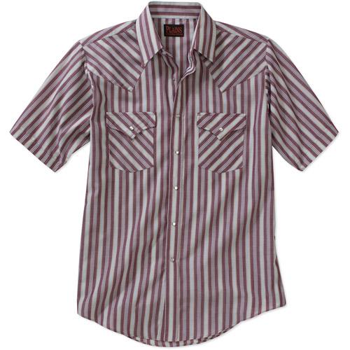 Plains - Men's Stripe Western Shirt Burg
