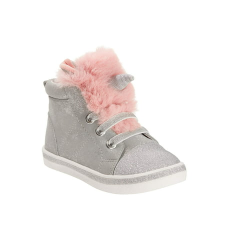 Wonder Nation Toddler Girls' Unicorn High Top Sneaker ()