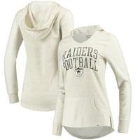 Oakland Raiders NFL Pro Line by Fanatics Branded Women's True Classics Pullover Hoodie - Cream