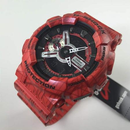 555f3ab80175 CASIO G-Shock Quartz Red Analog Resin Strap Men s Watch GA110SL4A Image 2  ...
