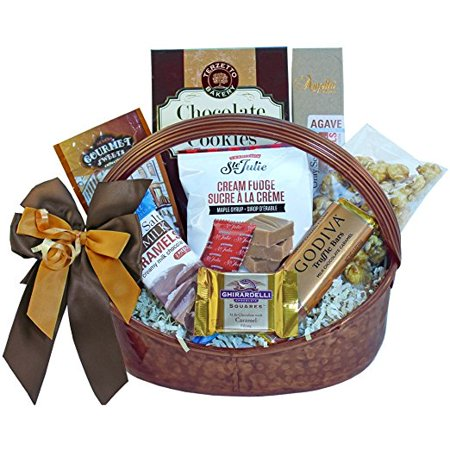 Food Gift Packaging - Caramel Cravings Chocolate and Salted Caramels Gourmet Food Gift Basket (Ice Packaging)