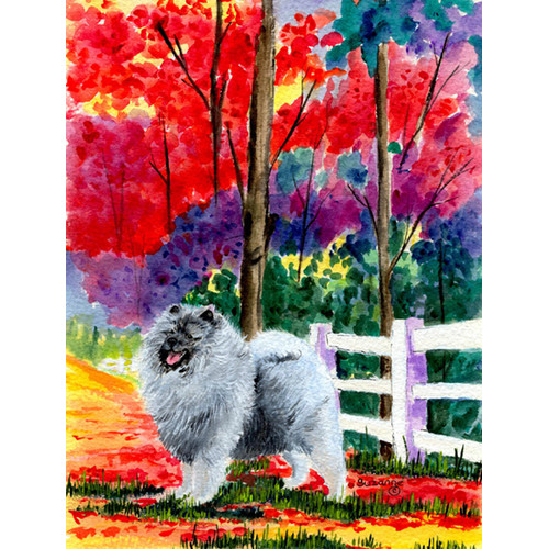 Caroline's Treasures Keeshond House Vertical Flag
