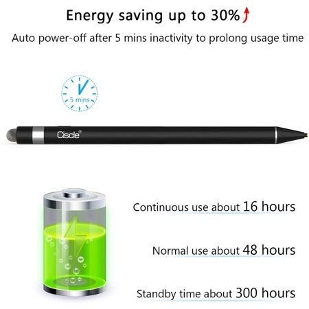 CISCLE Stylus Pens for Touch Screens, 2 in 1 High Sensitive Rechargeable Active Stylus Pen, 5 Mins Auto-Off Smart - image 3 of 4