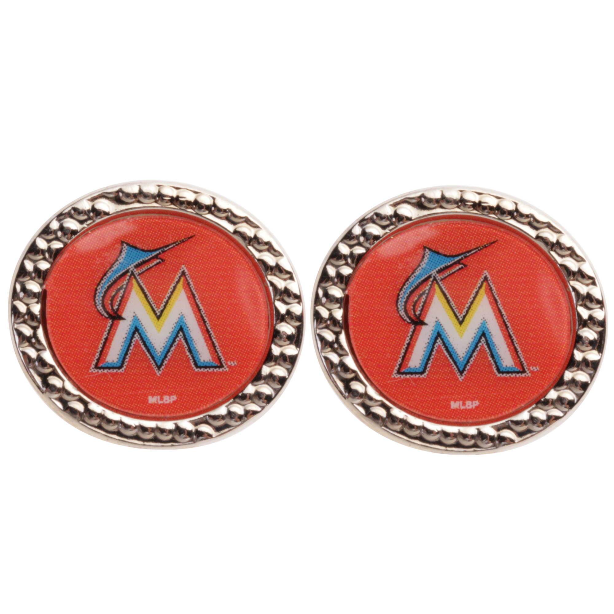 Miami Marlins WinCraft Women's Round Post Earrings - No Size