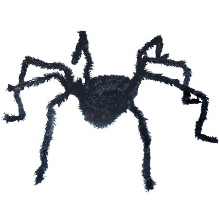 """5"""" Tall Light Up Medium Size Long Hair Spider"""
