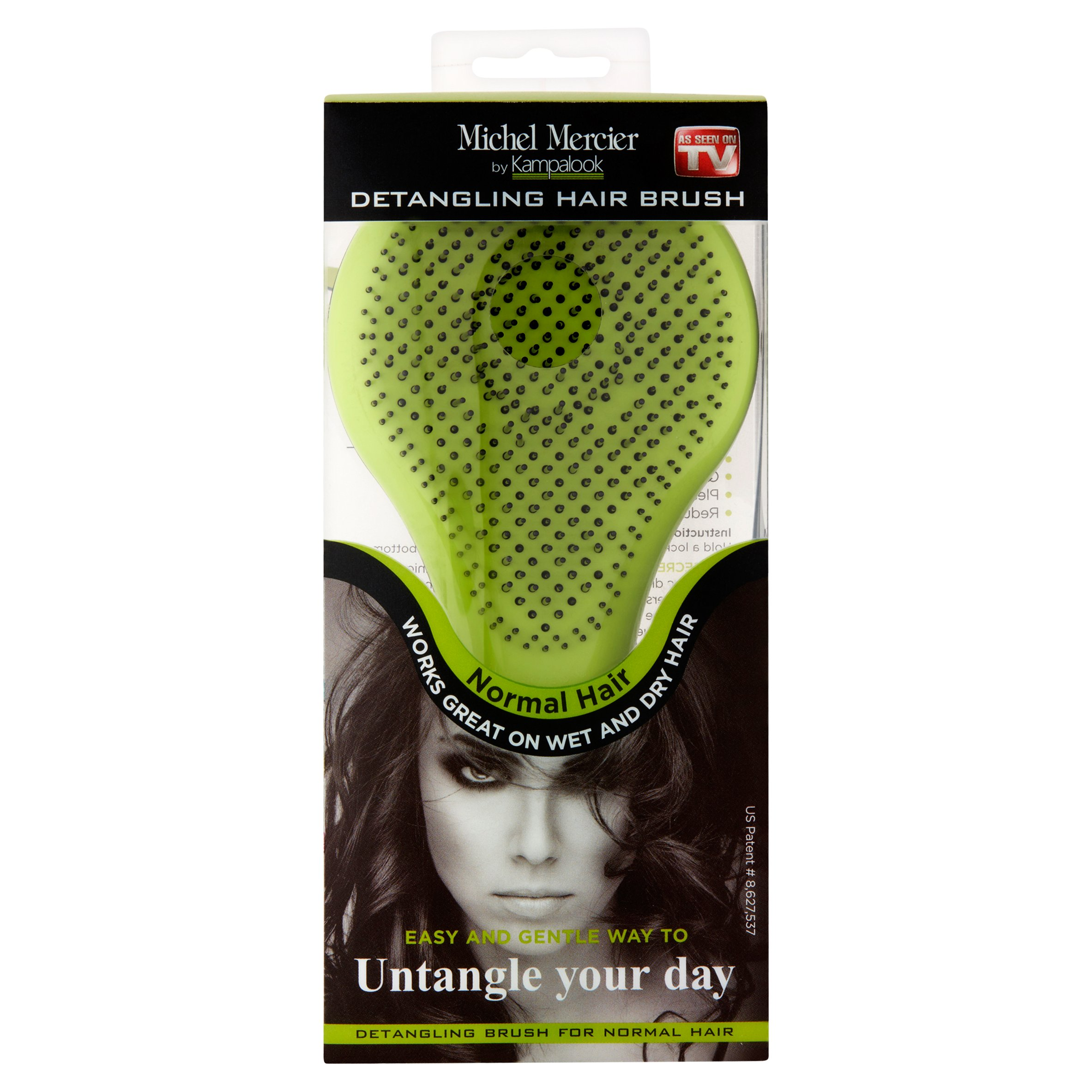 Michel Mercier Normal Green Detangling Hair Brush