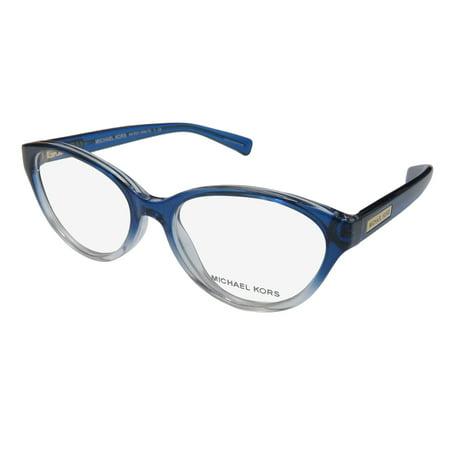 b8c1813f74 New Michael Kors Mitzi Vi 8021 Womens Ladies Cat Eye Full-Rim Transparent  Blue