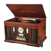 Victrola Wood 7-in-1 Nostalgic Bluetooth Record Player with PC Encoding and 3-speed Turntable