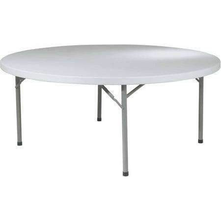 Office Star 71  Round Resin Multi Purpose Fold Table