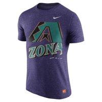 Men's Nike Heathered Purple Arizona Diamondbacks Cooperstown Collection Logo Tri-Blend T-Shirt