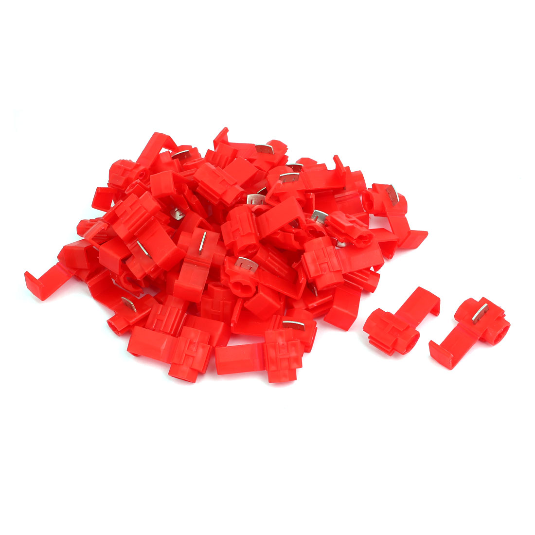 Unique Bargains 55Pcs Red Electrical Wire Connector Fast Quick Splice Cable Clip Terminals Crimp - image 2 of 2