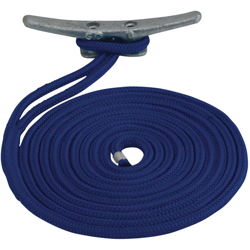 "Click here to buy Sea Dog Dock Line, Double Braided Nylon, 3 8"" x 20', Navy by Sea Dog."