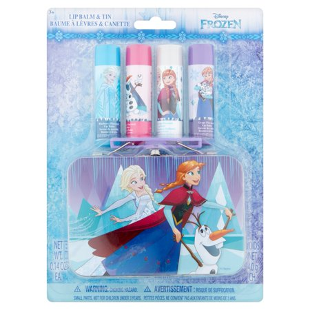Disney Frozen Lip Balm & Tin 3+, 0.14 oz, 4 count