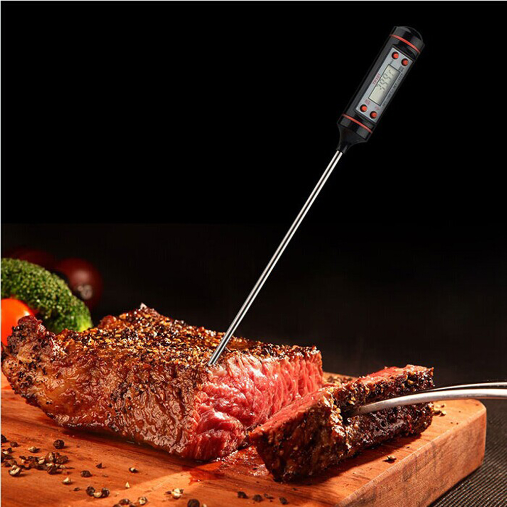 Click here to buy Cheap Best Quality Digital Food Thermometers Probe Meat Thermometer for Grilling Food Meat Thermometers on Sale by Calves LTD.