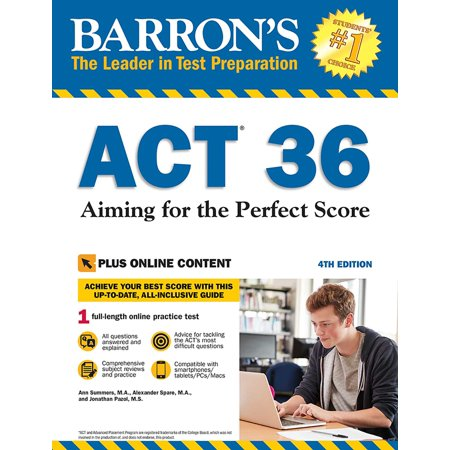 Barron's ACT 36 with Online Test : Aiming for the Perfect