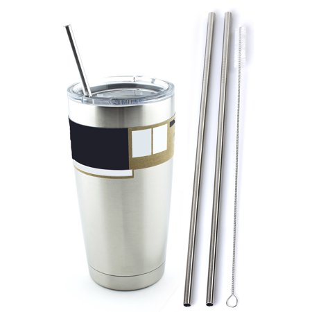 2 Stainless Steel Drinking Straws fits Yeti Tumbler Rambler Cups -  CocoStraw Brand - for 20 oz