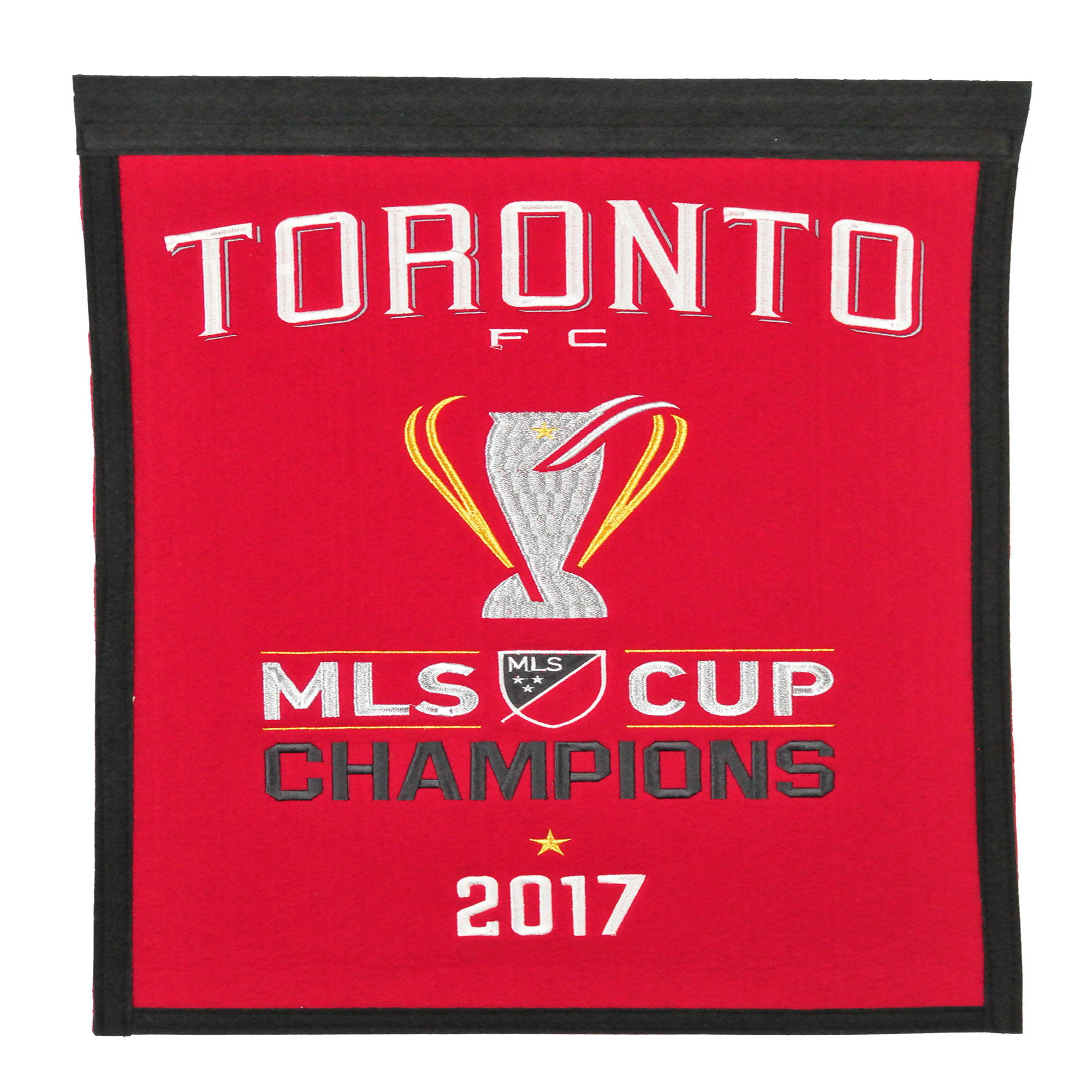 "Toronto FC 2017 MLS Cup Champions 14"" x 22"" Banner - Gray/Red - No Size"