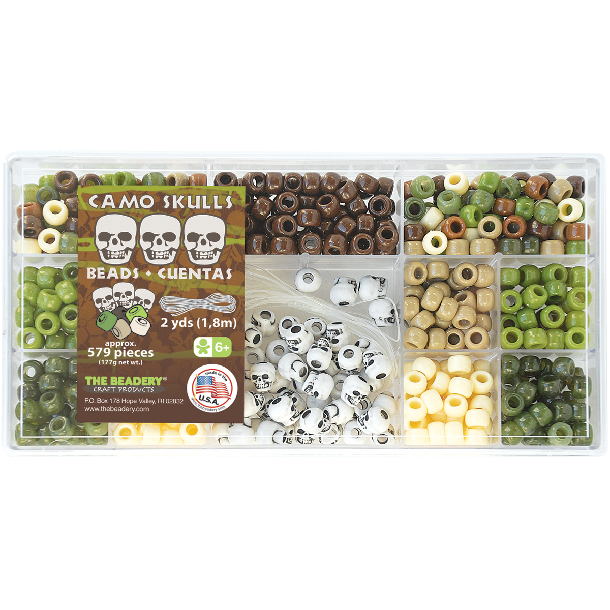 Bead Box Kit 6.25oz-Camo Skulls
