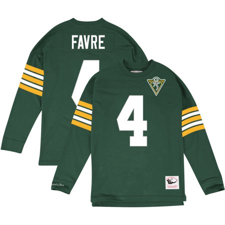 Green Bay Packers Brett Favre Nfl Mitchell   Ness Jersey Inspired Knit Top Mens