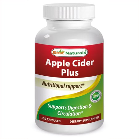 Best Naturals Apple Cider Vinegar Capsules, 500 Mg, 120