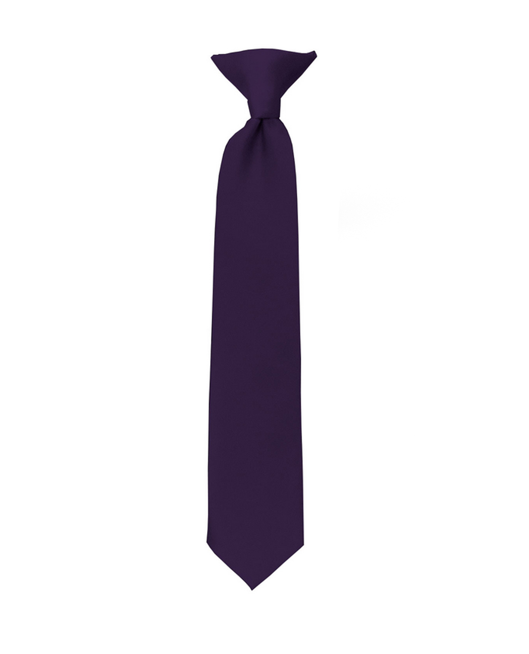 NYFASHION101 Mens Solid Color Adjustable Pre-Tied Bow Tie Eggplant