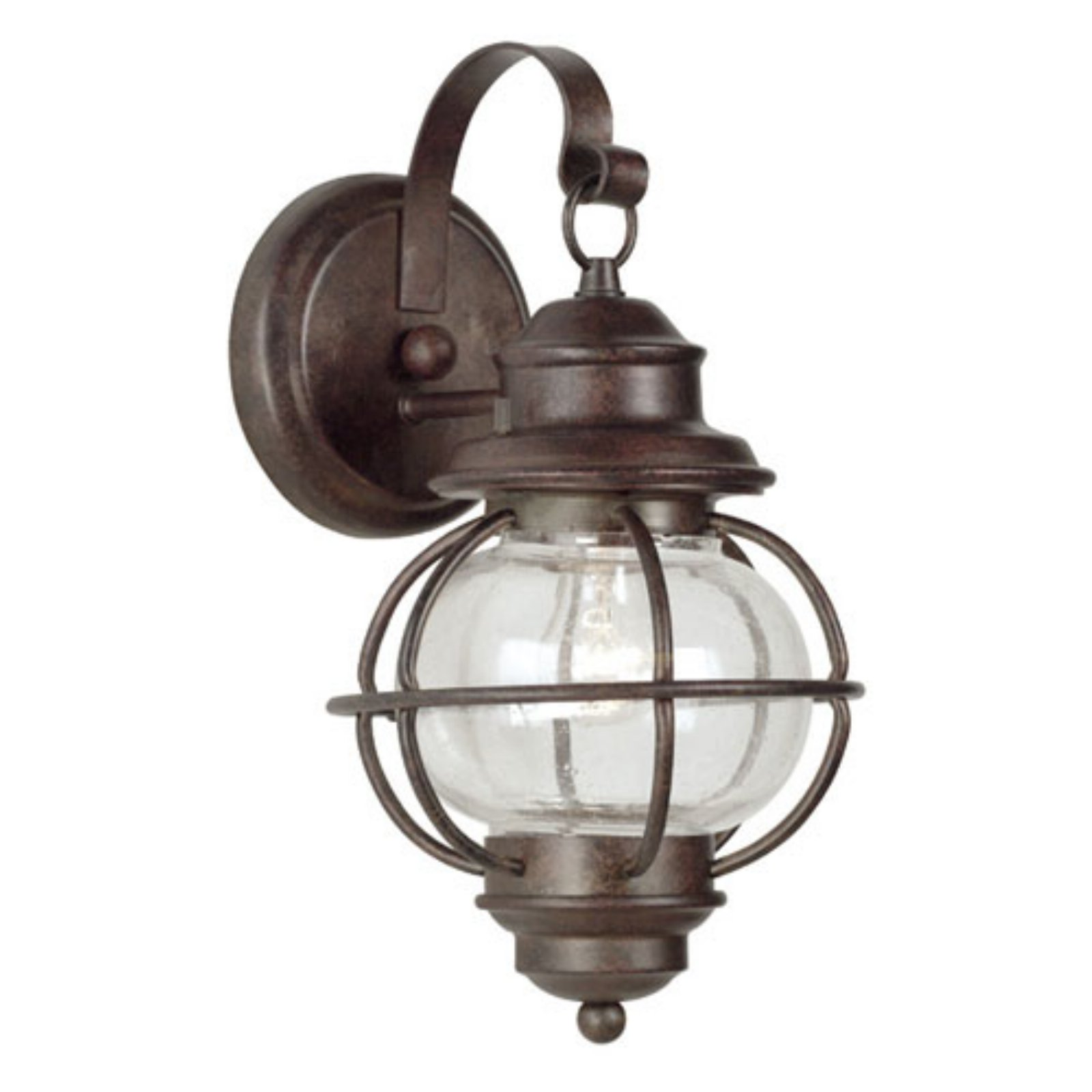 Kenroy Home Hatteras Outdoor Wall Lantern - 14H in. Gilded Copper