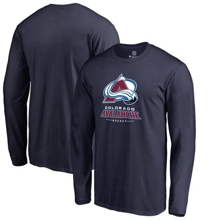 Reebok Colorado Avalanche T-shirt - Colorado Avalanche Team Lockup Long Sleeve T-Shirt - Navy