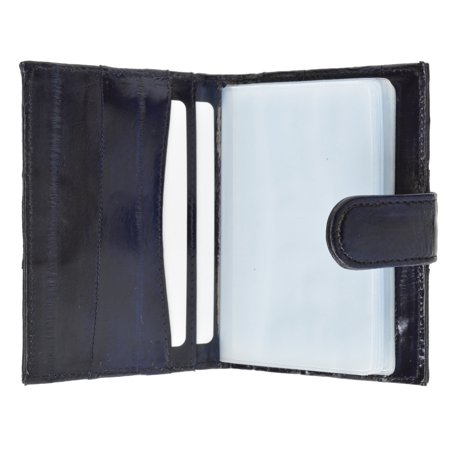 - Genuine Eel Skin Credit Card Case with Snap Closure E 570