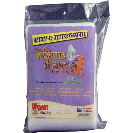 Warm Fleece Polyester Fusible Batting, 36