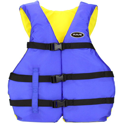 Rave Sport Universal Nylon PFD Youth Life Jacket, Blue